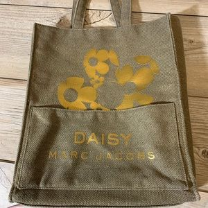 Marc Jacobs Daisy green/gold tote bag 16 by 13